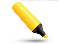 Psd yellow highlighter pen icon Free Psd. See more inspiration related to Icon, Office, Icons, Web, Yellow, Pen, Psd, Web icons, Office icon, Shiny, Horizontal, Objects and Highlighter on Freepik.