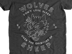 Tumblr #creed #wolves #sheep #t-shirt #hand drawn