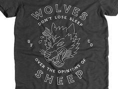 Tumblr #creed #wolves #sheep #t-shirt #hand drawn