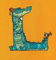 All sizes | 'L'-igator | Flickr - Photo Sharing! #kids #illustration