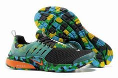 Nike Air Presto Trainers Camouflage Anthracite Green Total Orange Mens