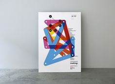 Poster designed by Garbett for the Australian Institute of Architects' 2014 conference Making #multiply #connections