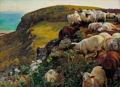 William_Holman_Hunt_-_Our_English_Coasts,_1852_(`Strayed_Sheep')_-_Google_Art_Project.jpg (2253×1654)