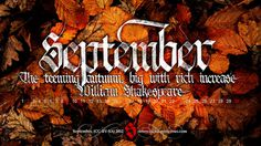 All sizes | September 2012 Calendar | Flickr - Photo Sharing! #calligraphy #red #fall #orange #gothic #shakespeare #september #season #wallpaper #textura