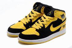 Nike Air Jordan 1 Chicago Bulls Custom 2013 Yellow Mens Shoes #shoes
