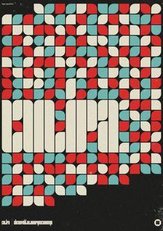 WANKEN - The Blog of Shelby White #modular #grid #pattern #poster