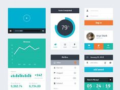 free_ui_kits_for_designers_34 #dashboard