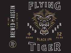 #beer #black #can #flying #tiger #gold #packaging #type