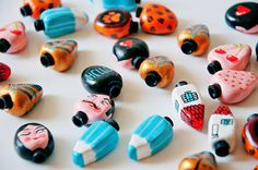 HAND PAINTED BICYCLE + BIKE ACCESORIESMore:about bicycle here.about bike bells here.valve caps photos: bikebutik.pl, more here.2013 #accesories #caps #house #bicycle #mustache #panthera #bike #made #hello #cycling #crayon #valve #hand