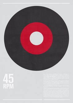 45 RPM Art Print #music #grid #vintage #poster