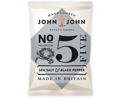 John & John PotatoCrisps - TheDieline.com - Package Design Blog #packaging #nautical #johnjohn #crisp #packet