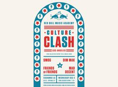 Culture Clash L.A. 2012 #poster #typography