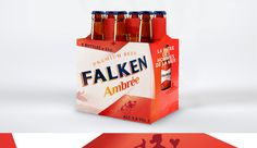 FALKEN. FRENCH BEER. AMBRÉE BOTTLE PACK. #FRENCH#BEER