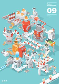 potion.09 #illustration #vector #process #product #diagram #assembly #potion09