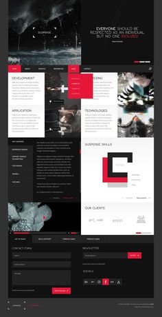 SUSPENSE | template on Behance #website #grid #responsive