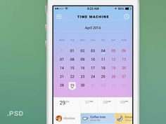 Time Machine Mobile Calendar