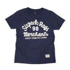 Sixpack France - Merchant Tee Navy #shirt #tees #graphic #typography