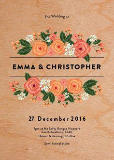 Florals - Wedding Invitations #paperlust #weddinginvitation #weddingstationery #weddinginspiration #design #paper #cards #print #digitalcar