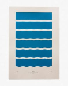 Waves - Limited Edition Screenprint / Julia Kostreva #geometry