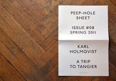 Peep-Hole #print #design #graphic