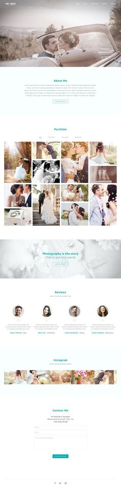 Wedding Photographer Web Design $16
