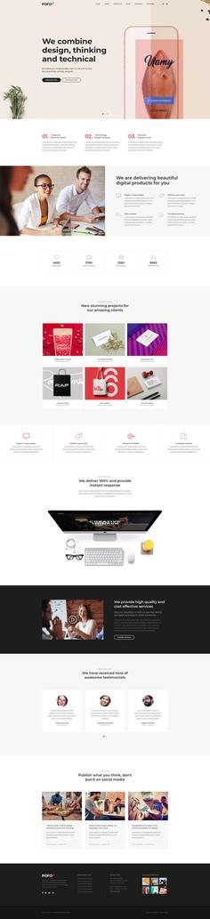 Pofo - #Creative #Portfolio and #Blog #WordPress Theme for #Digital Agency by #ThemeZaa