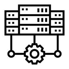 See more icon inspiration related to system, server, gear, network, ui, servers, hosting, storage, networking, connection, database and technology on Flaticon.