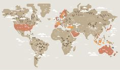 The world of coffee   Hey #coffee #map #illustrated