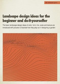 All sizes | Landscaping Design Ideas... | Flickr - Photo Sharing! #cover #1960s #book