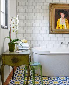 artful bath. #bathroom