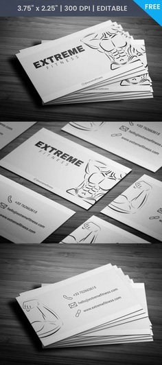 Free Bodybuilding Fitness Business Card #template #fitness #card