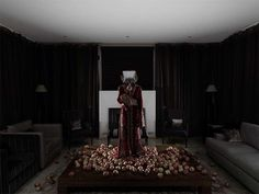 Staged Fine Art Self-Portraits by Amina Benbouchta