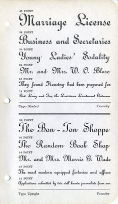 Typo Shaded and Typo Upright type specimen #type #specimen