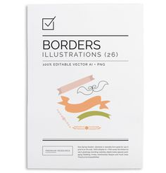 Spring Borders & Ribbons $9.00 These hand-drawn spring borders & ribbons can be just enough to give your designs a touch of charm.
