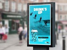 WAVERIDER // Branding on Behance #surf #branding #packaging #logo #brand #concept #sea #gif #shape #identity #blue #web