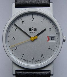 design: the classic Braun watch and similar | Wuff