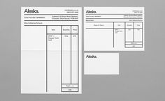 Aleska on Behance #stationery