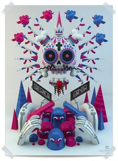 Chilanga Banda on the Behance Network #toys #skull