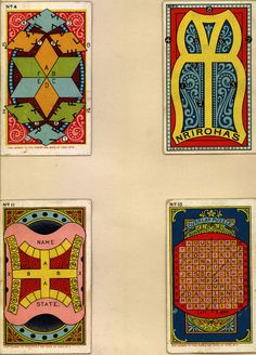 Vintage promotional game cards