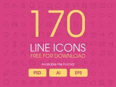 170 Free Line Icons for Designer