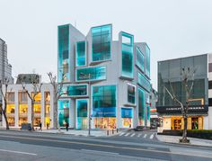 MVRDV completes gangnam style chungha building #architecture