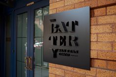 New Logo and Identity for The Battery by MM #signage #identity