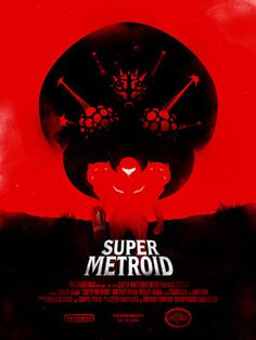 Super Metroid #print #video #illustration #gaming #poster #metroid #game
