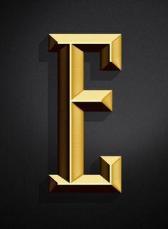 SerialThriller™ #retro #letter #gold #typo #typography