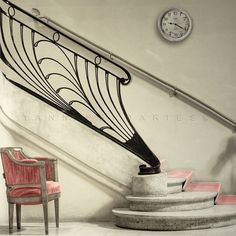 Entry of the dressing rooms in the Theater on the Champs Elysées in Paris #staircase