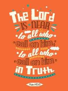 Psalm 145:18 – Poster by mostpato