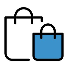 See more icon inspiration related to bag, supermarket, shopper, shopping, shopping bag, online shop, commerce, online store and commerce and shopping on Flaticon.