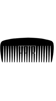 Baubauhaus. #design #graphic #musical #black #hair #shape #comb #typography