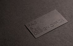 PAO and Lee's business cards - CardFaves #card #business