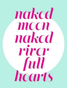 Portfolio 2011 #hearts #river #moon #typography